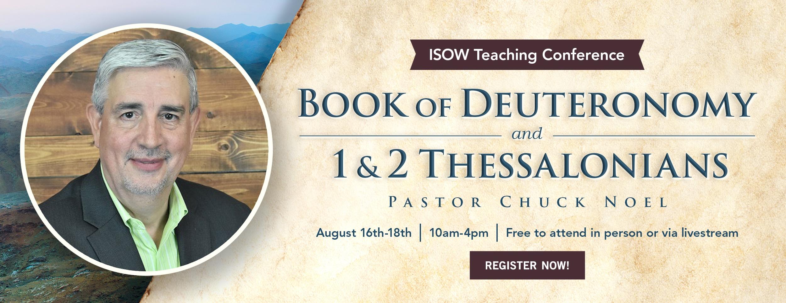 ISOW -Chuck Noel Teaching – Website Banner