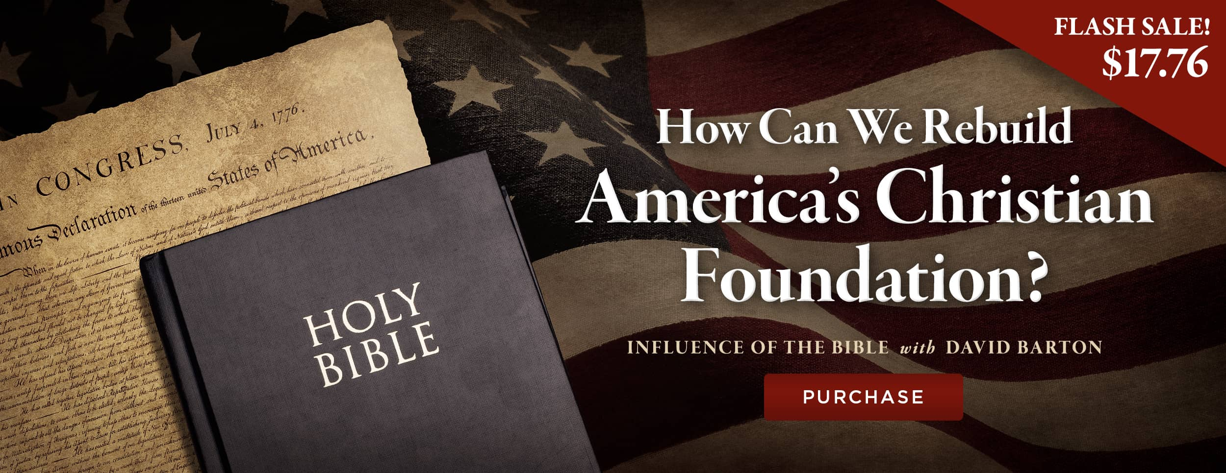 Influence of the Bible – Flash Sale – Website Banner