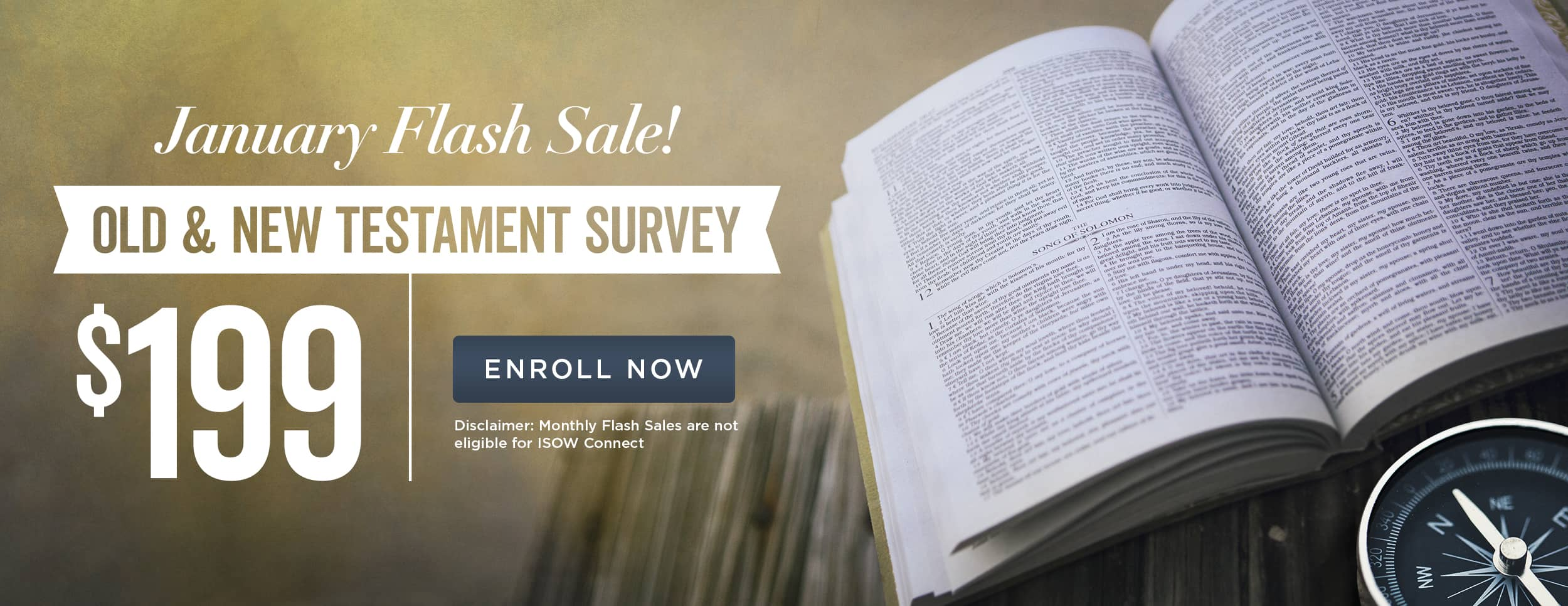 Old and New Testament Flash Sale – Website Banner1