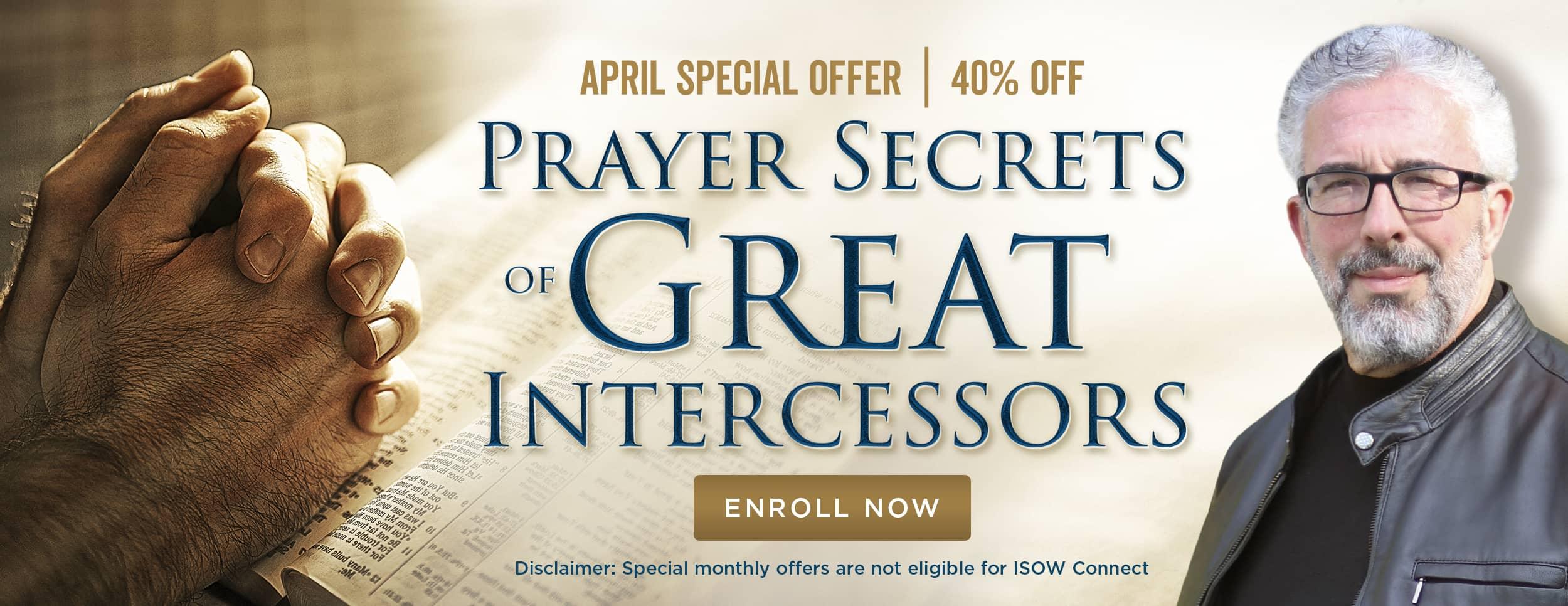 Prayer Secrets of Great Intercessors – Website Banner 2