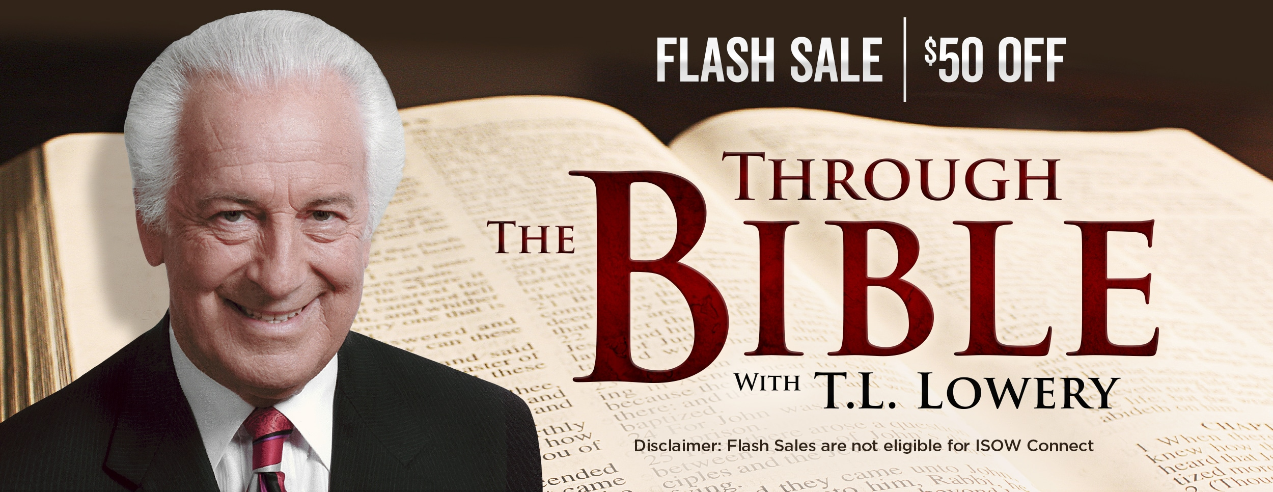 Through the Bible with T.L. Lowery Bundle Flash Sale – Website Banner 1