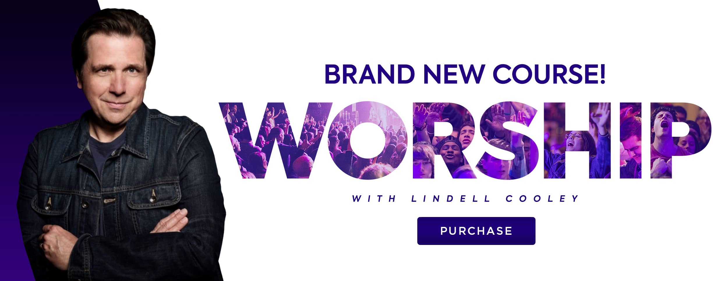 Worship with Lindell Cooley – Website Banner